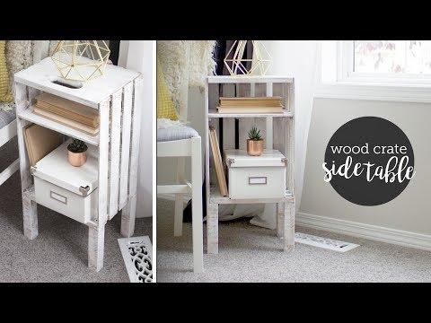 DIY Wood Crate End Table or Nightstand || EASY!