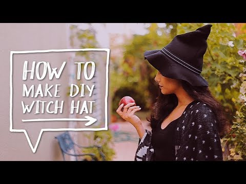 👻 DIY HALLOWEEN COSTUME | How to Make a DIY Witch Hat for a Halloween! ✨Alejandra's Styles