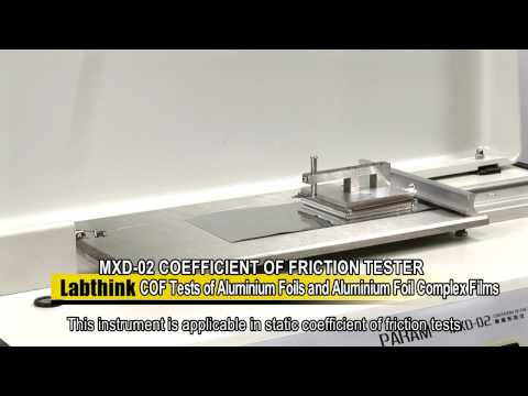 Coefficient of Friction Test of Alu Foil on MXD 02 by Labthink
