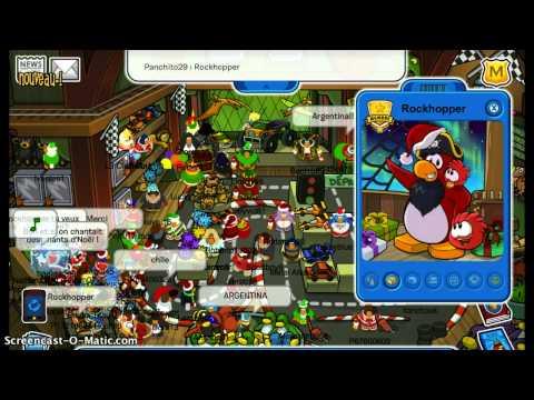 Club Penguin Meeting Rockhopper December 2012