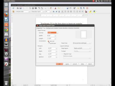 How to convert your documents from portrait to landscape in Libre Office