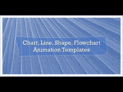PowerPoint Template for Chart, Line, Shape, Flowchart Animation
