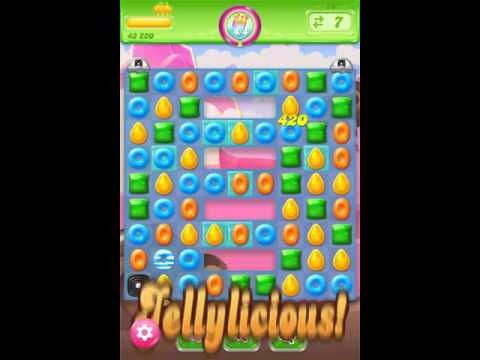 Candy Crush Jelly Saga Level 76 - 3 Stars 68,600 - No Boosts