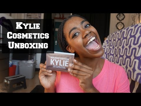 KYLIE COSMETICS Holiday Edition Matte Liquid Lipstick UNBOXING