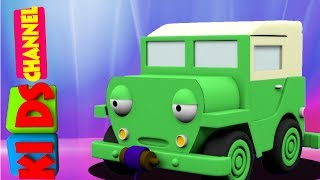 Kids channel   Jeep   3D videos for children   street vehicles