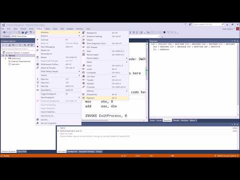 Assembly Tutorial:  Compiling Your First Assembly Program Using Visual Studio 2017