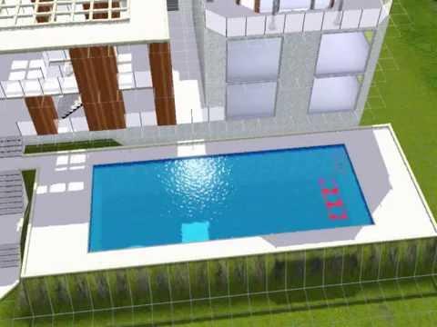 Building a Modern Beach House in sims 3