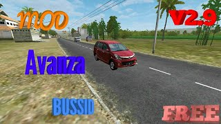 Review Mod Avanza Veloz And Share link Bussid V2.9