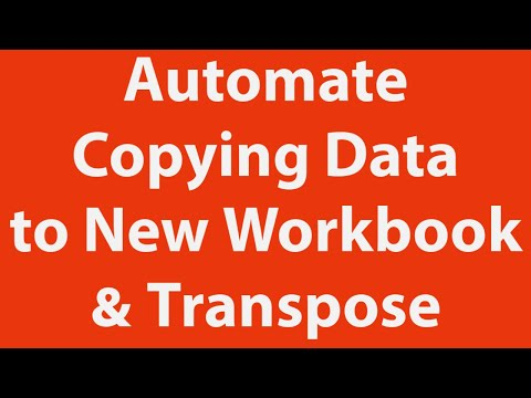 Copy Data Paste Another Workbook Transpose automatically using Excel VBA