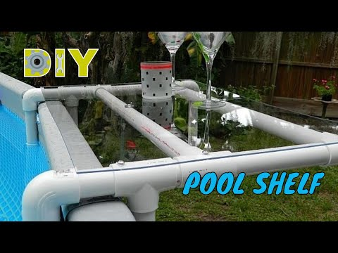 DIY Pool Shelf for an Above Ground Pool DIY