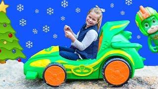 PJ MASKS Diseny Gekko Night Car wth Smooshy Mushy and Cutie Cars Toys