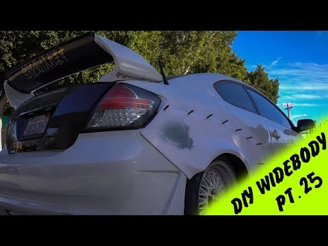 DIY Widebody Fender Flares out of a Rocket Bunny Kit Pt.25 | Almost Their!!!