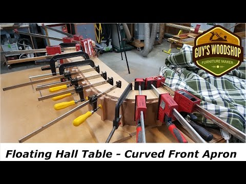 Floating Hall Table Pt.1 - Making the Curved Front Apron