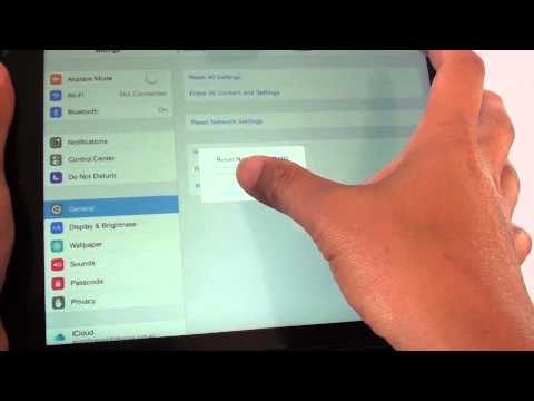 iPad Air: How to Reset Network Settings