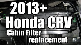 2013 Honda CRV Cabin Filter Replacement