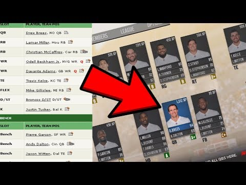 WHAT IF MY FANTASY FOOTBALL TEAM WAS IN THE NFL? MADDEN 18