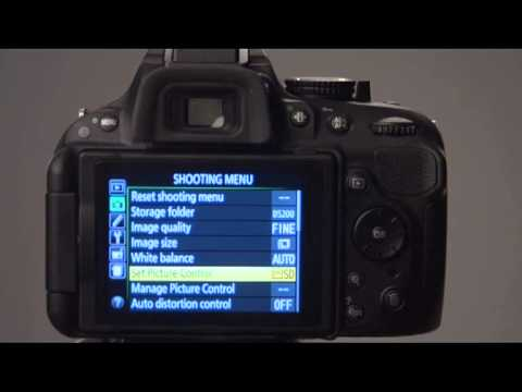 The Nikon D5200 Shooting Menu overview - youtube