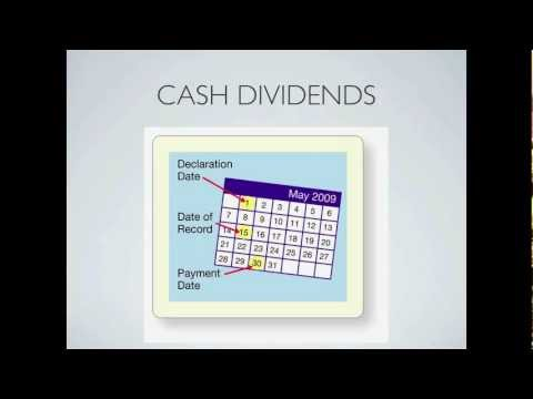 What is a Dividend? Payment of Cash Dividends on Stock - Financial Accounting video