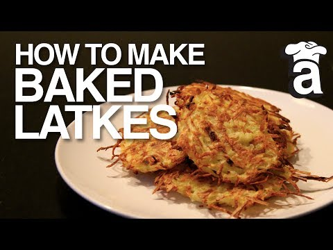 Healthy Baked Latkes | Cooking With Abbey