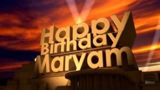 عيد ميلاد سعيد مريم Joyeux Anniversaire Meriem Buon Compleanno