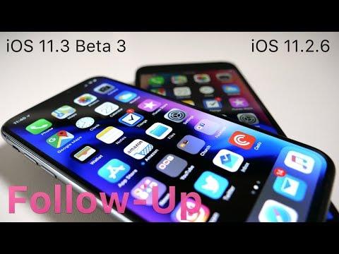 iOS 11.2.6 and iOS 11.3 Beta 3  - Follow-up