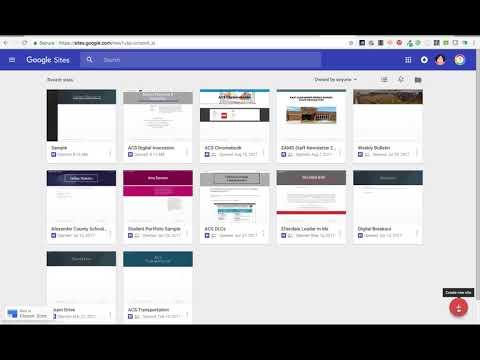 Create a New Google Site