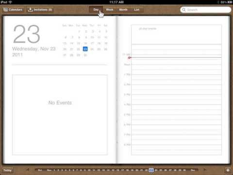 Apple iPad Change the Calendar Days
