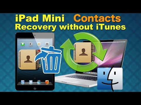 iPad Mini Recovery: Recover Deleted Contacts from iPad Mini directly without iTunes backup on Mac?