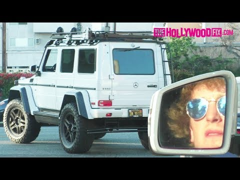Logan Paul Takes His Yeti G-Wagon Out For A Cruise Through West Hollywood 5.15.18