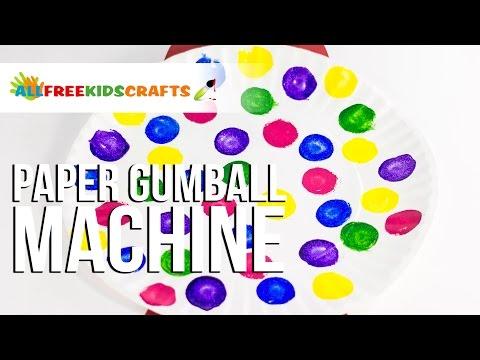 Paper Gumball Machine