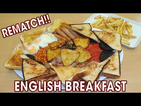 Monster ENGLISH BREAKFAST Challenge REMATCH!!
