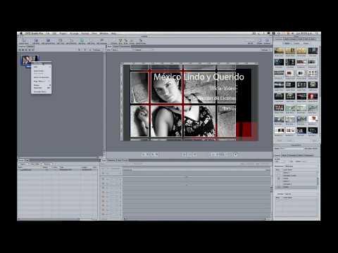 DVD STUDIO PRO 4 TUTORIAL EN ESPAÑOL (PARTE 2): Crear menu con archivos PSD