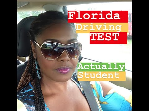DRIVING / ROAD TEST  WITH ACTUAL STUDENT  LAUDERHILL  FLORIDA