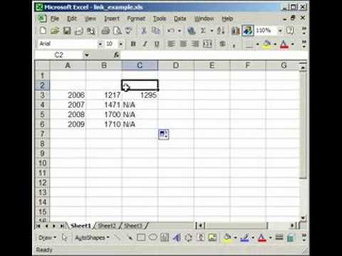 How to link two (multiple) workbooks and cells in Excel