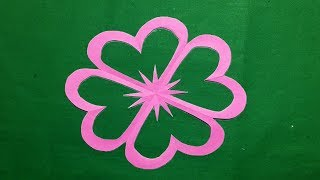 How to make simple easy paper cutting flower designs paper how to make simple easy paper cutting mightylinksfo