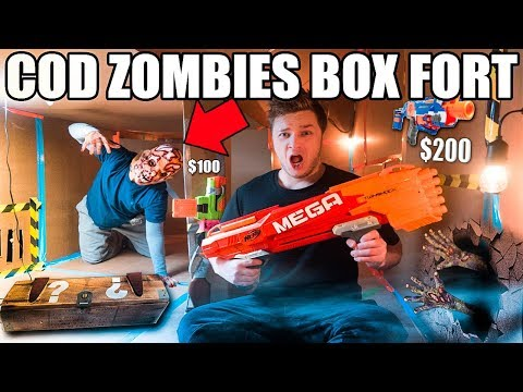 COD ZOMBIES BOX FORT CHALLENGE!! 📦😱 NERF Mini Game, Mystery Box & More!