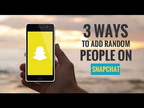 How to Find Random People on Snapchat