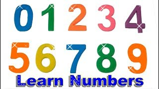 Learn Colors Learn to Count 0 to 9 Counting in English PlayDoh Numbers ' Fun Playset