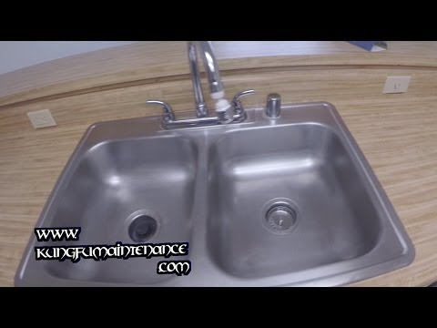 Removing Stains Scratches Marks From Stainless Steel Sinks DIY Repair Maintenance Video
