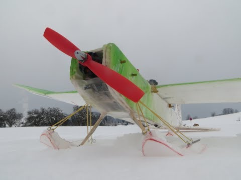 How to build snow skis for a plane