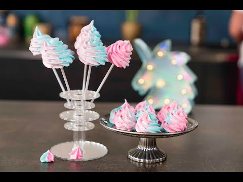 How to make Unicorn Poopops (aka fluffy meringues lollipops!) | Stacey Dee's Kitchen