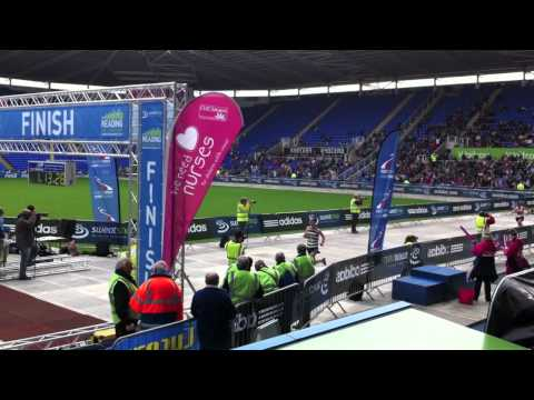 Inside Madejski Stadium @ Reading Half Marathon 2011