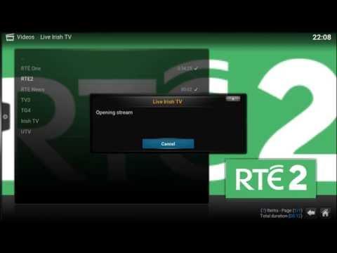 Watch Live Irish TV on KODI/XBMC