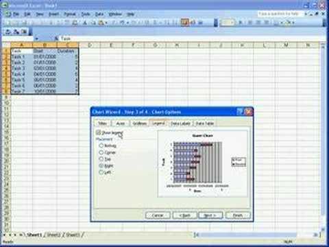 Creating a Gantt Chart in Microsoft Excel 2003