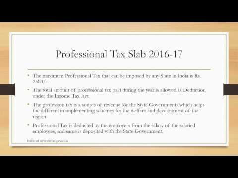 Professional Tax Slab Rates