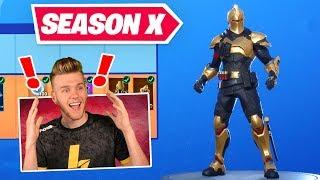 *NEW* SEASON X BATTLEPASS In Fortnite (GOLD KNIGHT?!?)