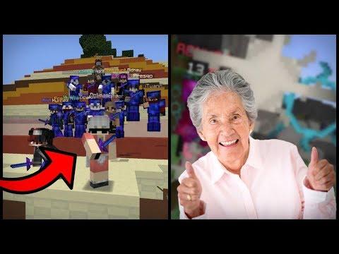 OMA SPEELT OP MIJN SERVER! (Minecraft)