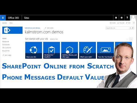 Default Column Value - SharePoint Phone Messages Automation 13