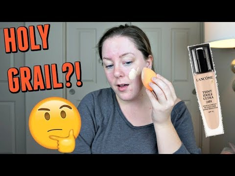 LANCOME TEINT IDOLE LONG WEAR FOUNDATION FIRST IMPRESSION & REVIEW | DRY SKIN APPROVED???