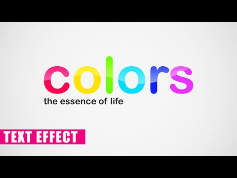 How to make Colorful Text Effect in Photoshop CC, CS6 | Photoshop Text Effects Tutorial